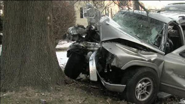 Driver freed from vehicle after Delco crash