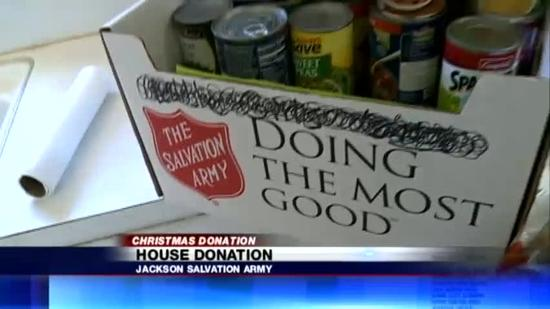 Salvation Army home donation