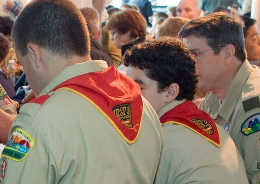<p>Some Boy Scouts of America are seen at a breakfast in Boston in 2009. The Boy Scouts of America have reaffirmed a ban on openly gay members and leaders after a secret review, citing the preferences of its conservative-leaning rank and file, US media reported.</p>