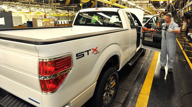 Ford F-Series assembly line in Kansas City