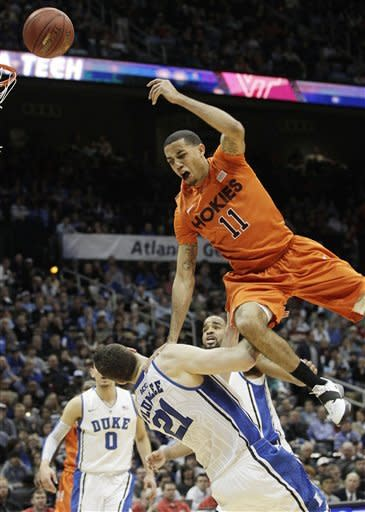 Thornton, Rivers lead Duke past Va. Tech 60-56