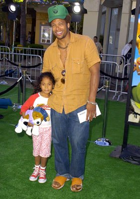 Premiere: Gary Dourdan and daughter at the L.A. premiere of Dreamworks' Shrek 2 - 5/8/2004