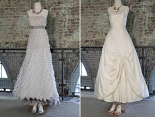 Looks from Urban Outfitters' new bridal line. (Via Women's Wear Daily)