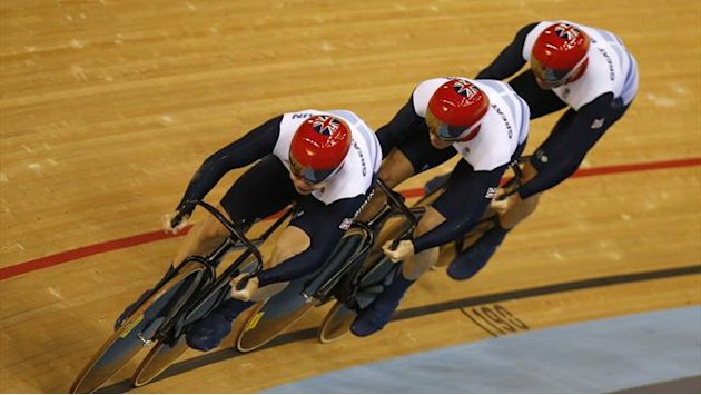 GB men storm to Olympic team sprint gold