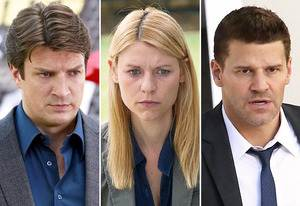 Nathan Fillion, Claire Danes, David Boreanaz | Photo Credits: Ron Tom/ABC; Joe Alblas/SHOWTIME; Patrick McElhenney/FOX