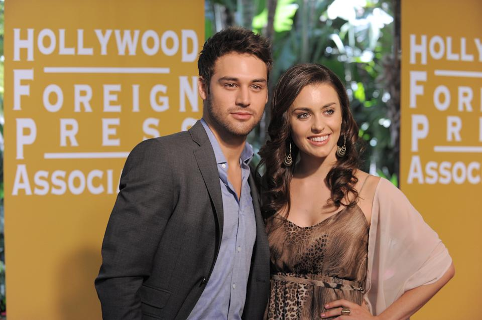 Ryan Guzman and Kathryn McCormick attend the Hollywood Foreign Press Association luncheon at the Beverly Hills Hotel on Thursday, Aug. 9, 2012, in Beverly Hills, Calif. (Photo by Jordan Strauss/Invision/AP