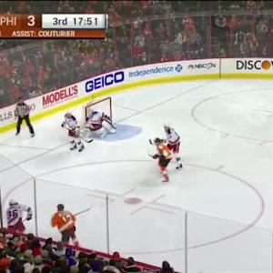 Dan Girardi Hit on Michael Raffl (02:10/3rd)