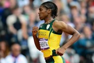 South Africa&#39;s Caster Semenya during the women&#39;s 800m heats at the London Olympics on August 8. Saturday&#39;s women&#39;s 800m final will feature Semenya, defending champion Pamela Jelimo of Kenya and Russia&#39;s Mariya Savinova