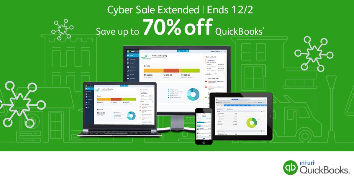 Promotion Ends 12/2: Up to 70% Off QuickBooks™