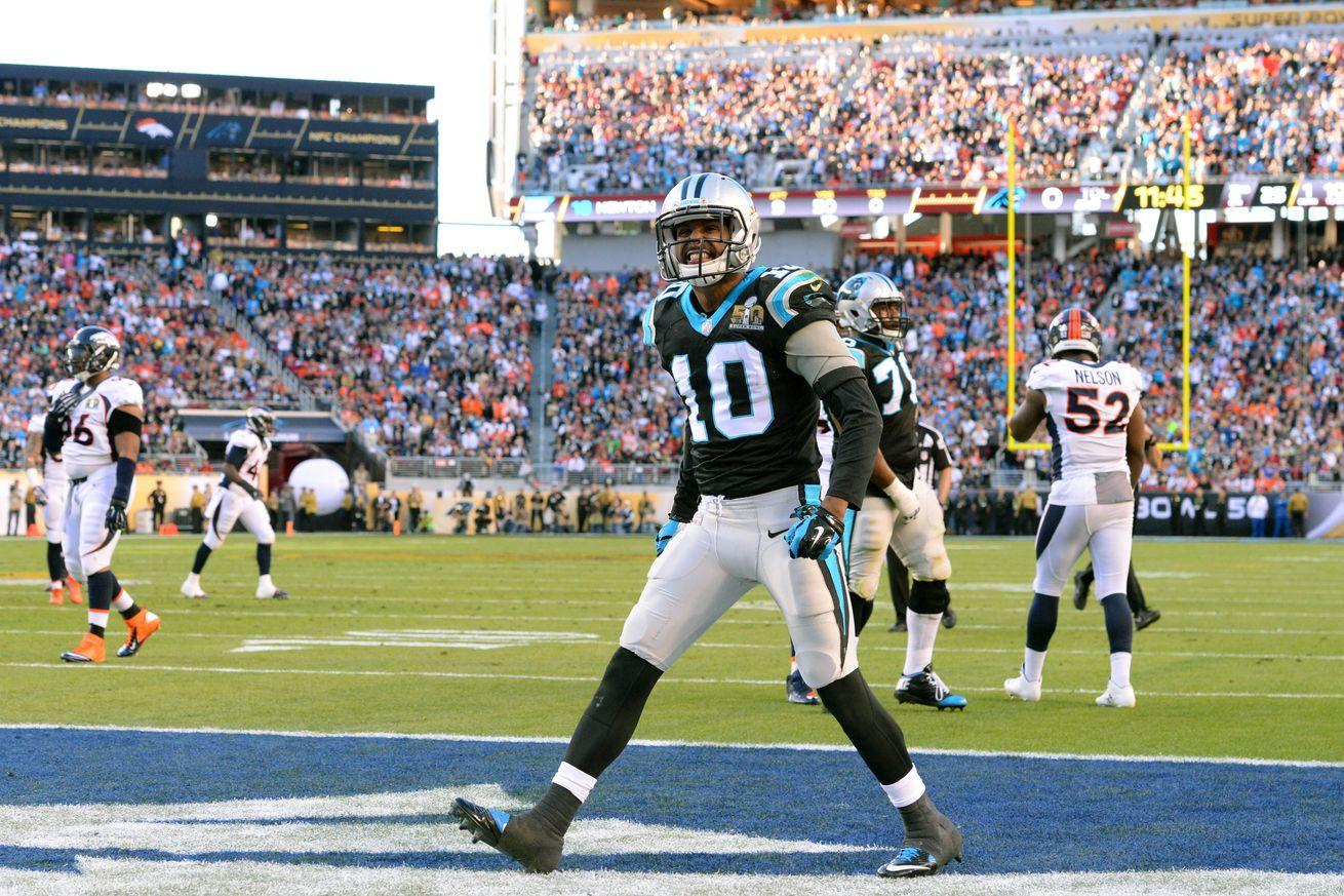 Panthers WR Philly Brown leaves Super Bowl with concussion