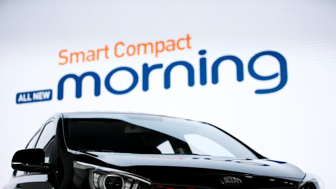 Kia Motor's new Morning compact car is seen during its unveiling ceremony in Seoul