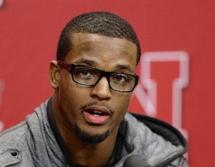 Nebraska's Ameer Abdullah speaks at a news conference in January. (AP)
