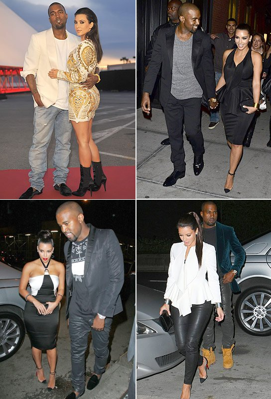 Kim Kardashian & Kanye West Love To Dress Alike: Check Out Their Matchy Moments