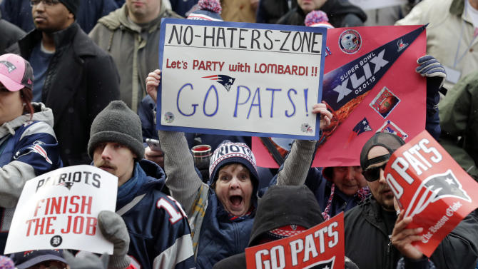 Thousands cheer for Patriots at Super Bowl sendoff in Boston
