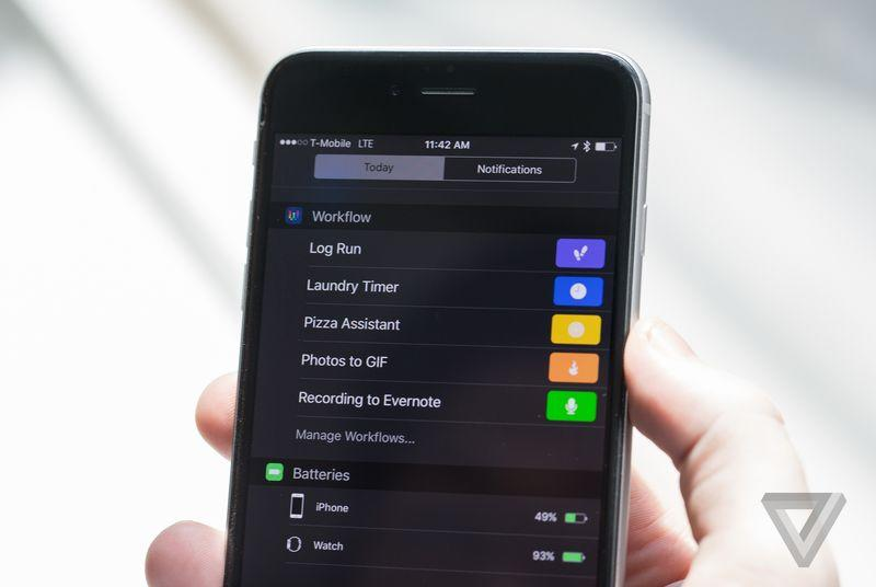 Shortcut app Workflow now works in the iOS Notification Center