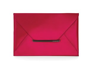 Fuchsia envelope clutch, Feb 13, p36