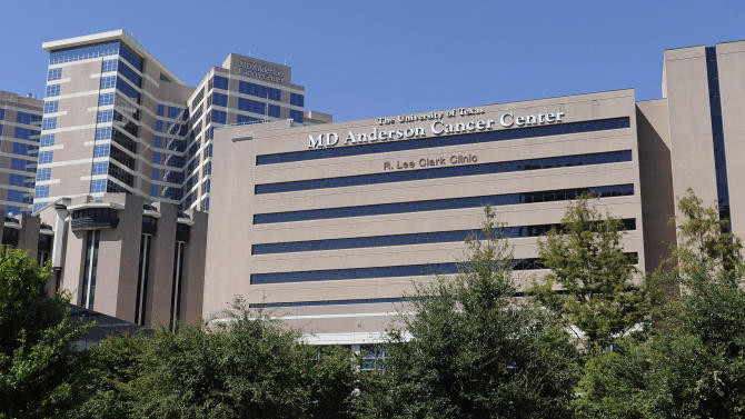 """This Thursday, Sept. 20, 2012 photo shows buildings of The University of Texas MD Anderson Cancer Center in Houston. The nation's largest cancer center is launching a massive """"moonshot"""" effort against eight specific forms of the disease, similar to the all-out push for space exploration 50 years ago. The University of Texas MD Anderson Cancer Center in Houston expects to spend as much as $3 billion on the project over the next 10 years and already has """"tens of millions"""" of dollars in gifts to jump start it now, said its president, Dr. Ronald DePinho. (AP Photo/Pat Sullivan)"""