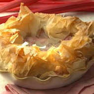 Ruffled Phyllo Tart with Spring Fruit