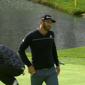 Dustin Johnson finishes with a 14-foot birdie at Farmers