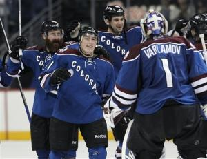 Barrie's goal lifts Avalanche in overtime 1-0