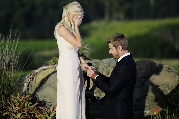 "Brad proposes to Emily on the season finale of ""The Bachelor."""