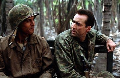 Adam Beach and Nicolas Cage in MGM's Windtalkers