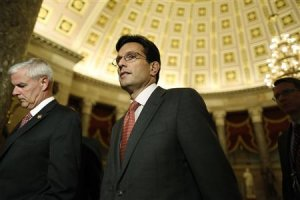 Cantor walks to the House floor for a series of late-night …