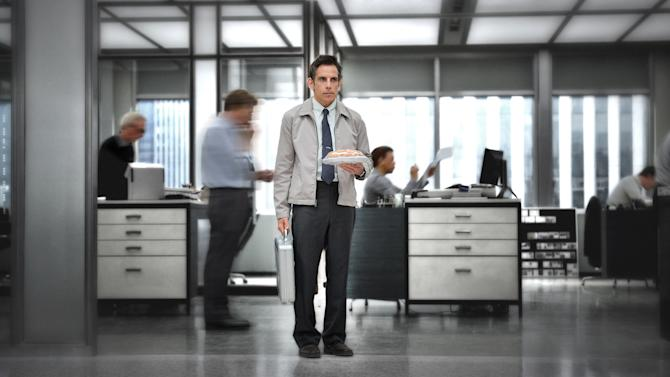 """This film image released by 20th Century Fox shows Ben Stiller in """"The Secret Life of Walter Mitty."""" Running Sept. 27 through Oct. 13, the 51st New York Film Festival will feature the world premieres of Paul Greengrass' """"Captain Phillips,"""" Spike Jonze's """"Her"""" and Ben Stiller's """"The Secret Life of Water Mitty."""" (AP Photo/20th Century Fox, Wilson Webb)"""