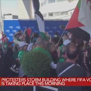 Protesters Storm FIFA Building During Vote