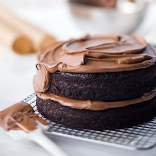 Double-Chocolate Layer Cake Double-Chocolate Layer Cake