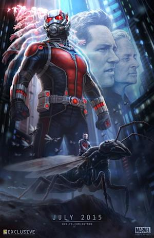 """The poster for """"Ant-Man"""" was unveiled at Comic-Con this weekend."""