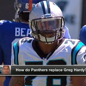 How do Carolina Panthers replace defensive end Greg Hardy?