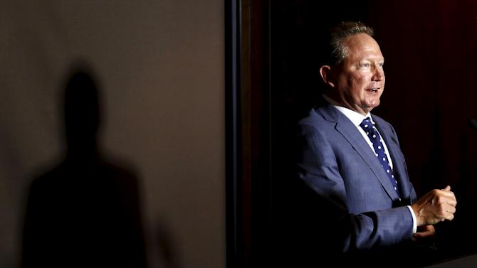 Andrew Forrest, chairman of Fortescue Metals Group, speaks during a media conference in Sydney