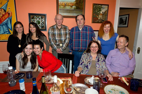 Thanksgiving 2011. This year we're doing it again--reuniting a family that remained intact following a divorce.