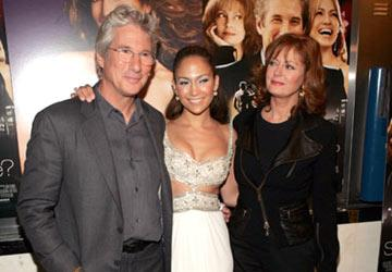 Richard Gere , Jennifer Lopez and Susan Sarandon at the New York premiere of Miramax Films' Shall We Dance?