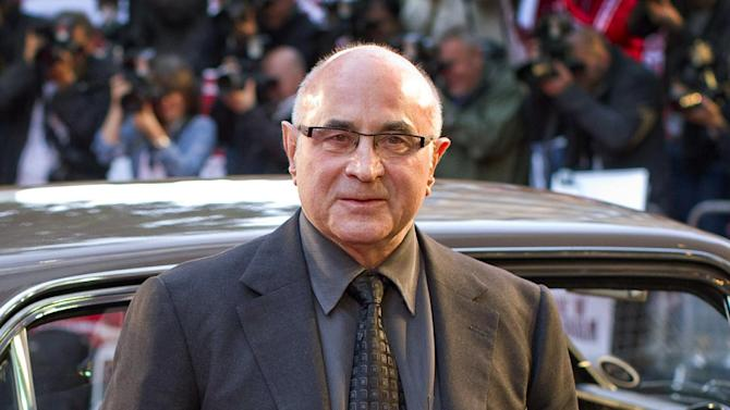 "FILE - This Sept. 20, 2010 file photo shows British actor Bob Hoskins arriving for the World Premiere of ""Made in Dagenham"" in London. Hoskins says he is retiring after being diagnosed with Parkinson's disease. In a statement released Wednesday, Aug. 8, 2012, through his agent, the 69-year-old performer thanked his fans and said he had had a ""wonderful career."" The statement said Hoskins was diagnosed with the degenerative nerve condition last fall. (AP Photo/Joel Ryan, file)"