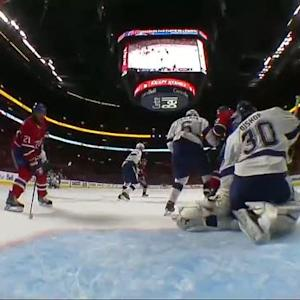 Gilbert fires hard shot past Bishop