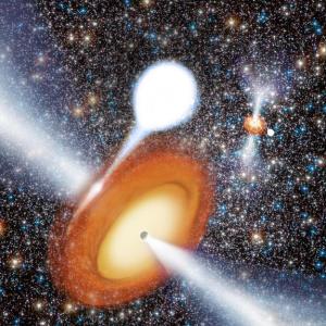 Pair of Black Holes in Star Cluster Surprises Scientists