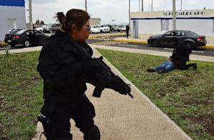 The US-funded police academy in Amozoc de Mota, Puebla …