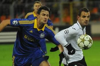 BATE Borisov 0-3 Valencia: Soldado hat trick earns superb away victory