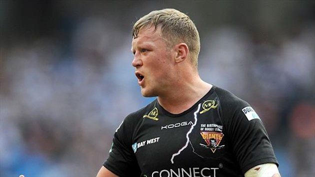 Luke Robinson, pictured, was on the receiving end of a strong tackle from Gareth Ellis