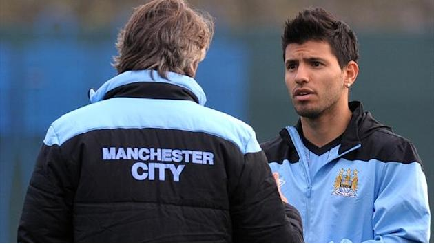Premier League - Mancini: Aguero can inspire title run