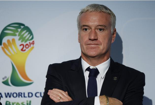 Didier Deschamps, head coach of the national football team of France, looks on following the draw for the 2014 FIFA World Cup European zone play-off  soccer matches on Monday, Oct. 21, 2013, at the FI