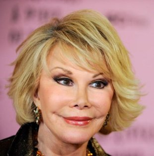 Maybe Joan Rivers would look less scary if she'd waited to have surgery until she was 52. Photo: Wire Image