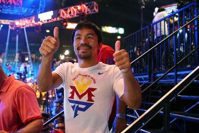 Manny Pacquiao late for his fight with Floyd Mayweather
