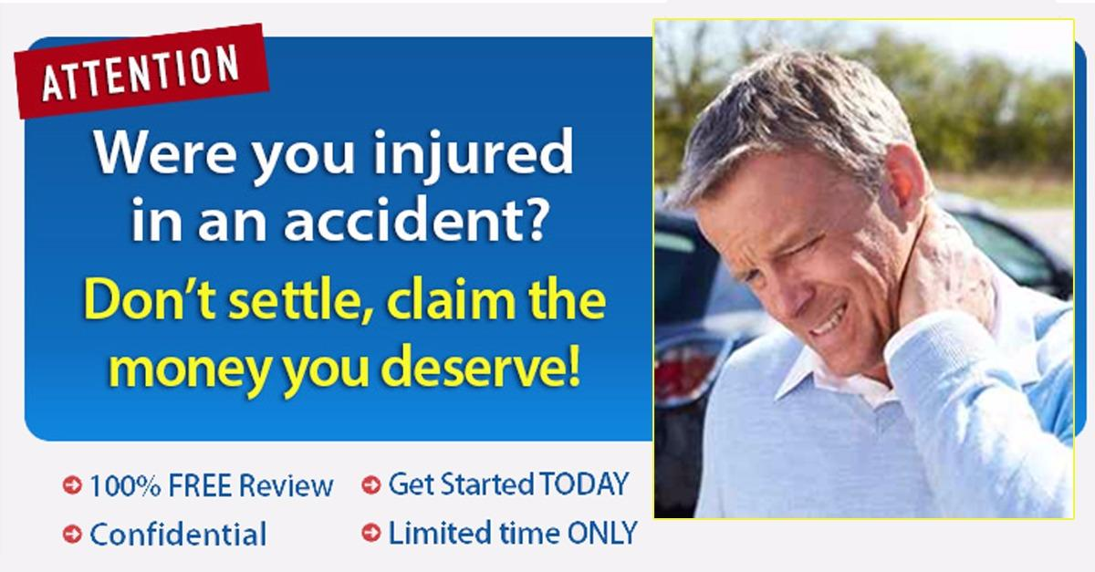 Were you injured in a vehicle accident?
