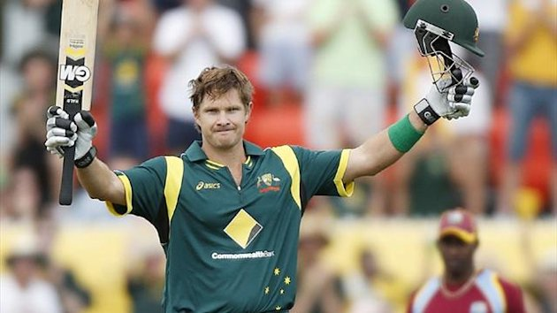 Shane Watson scores a century against West Indies in Canberra (Reuters)