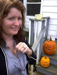 Bonnie Pick-Melanson threw her rings out in the compost after carving pumpkins earlier this week.