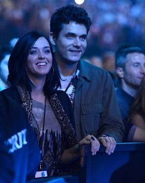 Katy Perry and John Mayer are seen in the audience watching The Rolling Stones perform at Prudential Center on December 13, 2012 in Newark, New Jersey -- Getty Premium