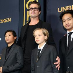Brad Pitt And The Kids Fill In For Angelina At 'Unbroken' Premiere